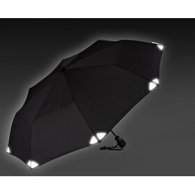 EuroSchirm Light Trek Automatic Regenschirm Schwarz/Reflective